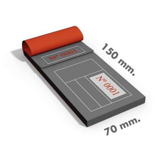 Talonarios sin copia 15x7 cm.