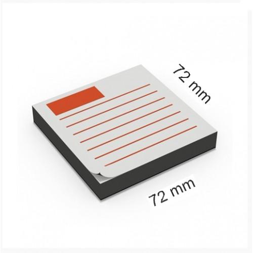 Notas adhesivas personalizadas 72 x 72 mm