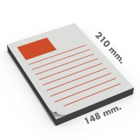 Blocs tamaño DIN A5 (148x210 mm.)