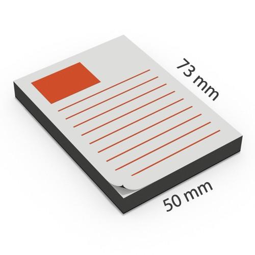 Notas adhesivas personalizadas 50 x 73 mm