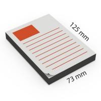 Notas adhesivas personalizadas 125 x 73 mm