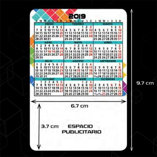 Calendarios de bolsillo preimpresos