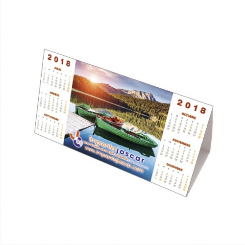 Calendarios sobremesa triangular personalizados