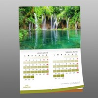 Calendario de pared DIN A3, 12 meses grapado