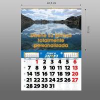 Calendarios de pared 43,5 lámina propia + faldilla
