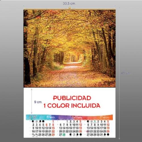 Calendario Trimestral 33,5x48 cm. preimpresas