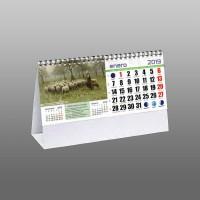 Calendarios sobremesa preimpresos con muelle 7 hojas