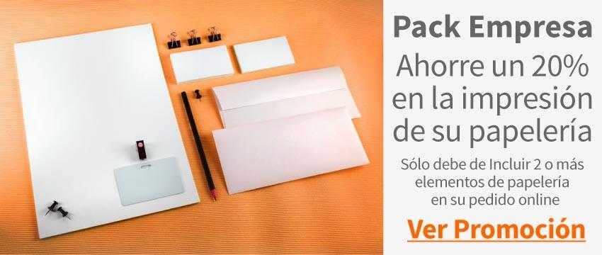 Pack Empresa impresión de papelería corporativa